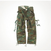 Spodnie Bojówki M65 woodland SURPLUS Vintage Fatigues Trousers 05-3596-62