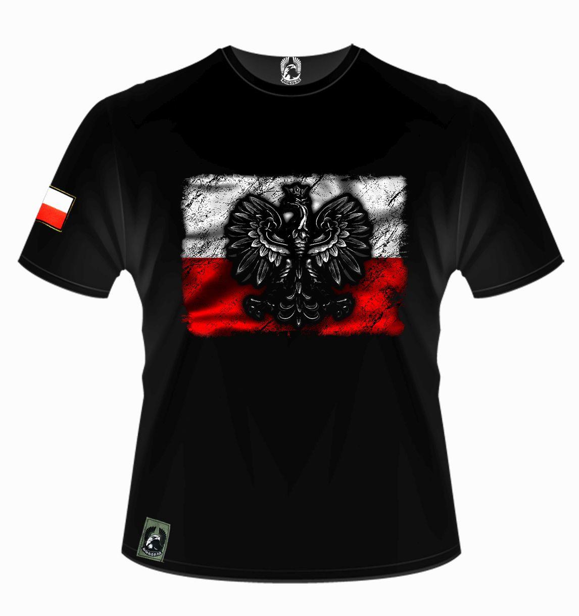 908bb0660ccf Koszulka patriotyczna - flaga Polski z godłem - Husaria