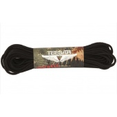 Linka PARACORD czarna survivalowa 15,24m Teesar