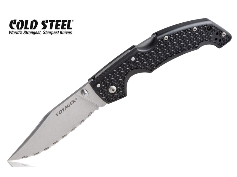 Nóż składany Cold Steel Voyager Large Clip Point BD1 Serrated Edge