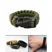 PARACORD bransoletka survivalowa oliv 15mm