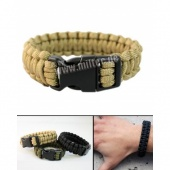 PARACORD bransoletka survivalowa Coyote 15mm