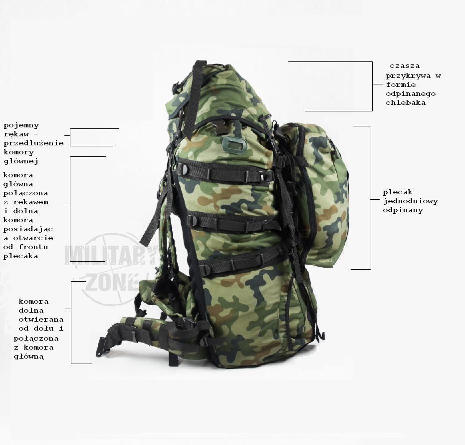 6854d25b5f5d8 Plecak wojskowy WZ93 piechoty górskiej 987/MON + zasobnik |Sklep ...
