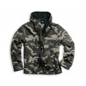 Windbreaker Zipper Kurtka SURPLUS Black Camo